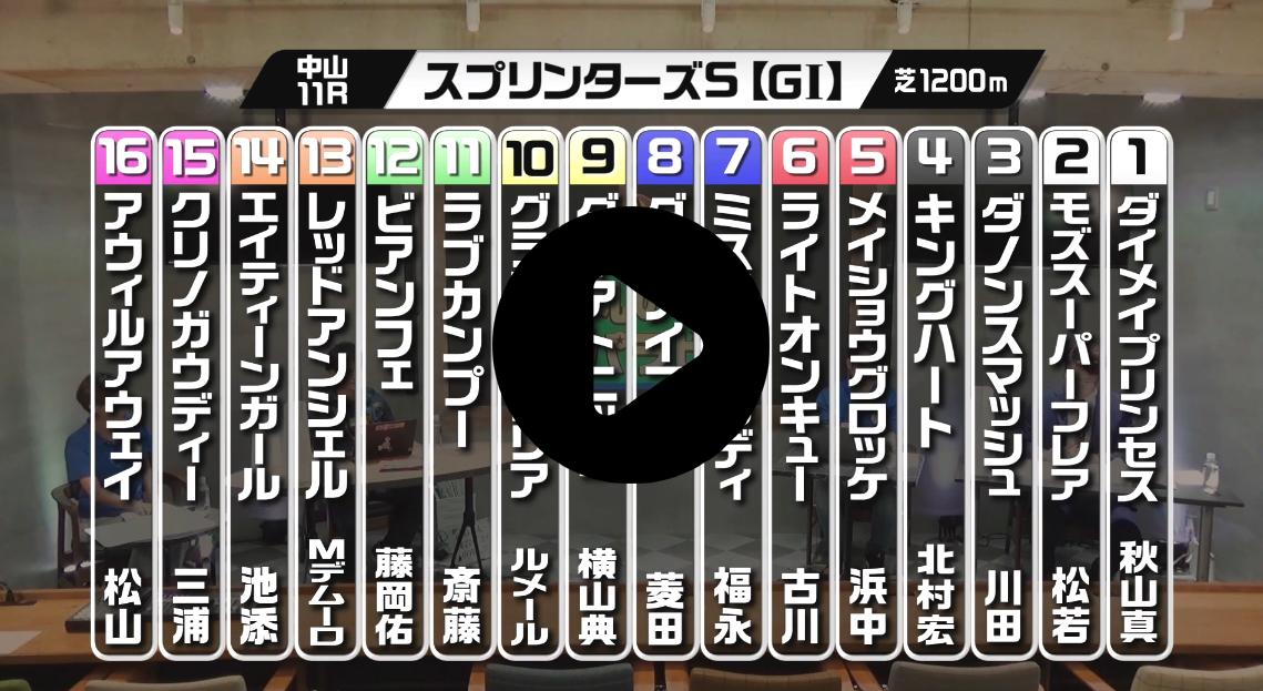 『競馬予想 丸のりパラビ!』スプリンターズS編が配信開始!
