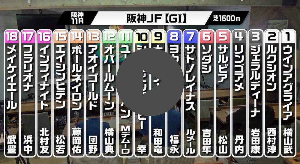 『競馬予想 丸のりパラビ!』阪神JF編が配信開始!