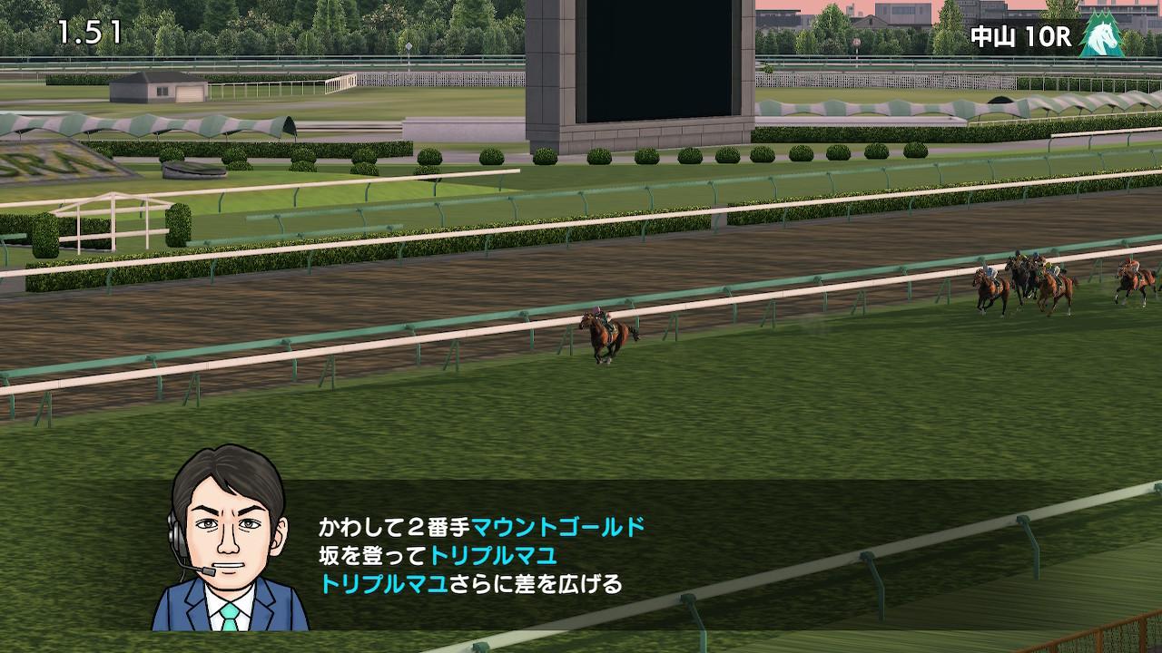 出走レースがメインレースの場合は「競馬場」に行くことでレースを観戦できます。中山金杯に出走予定だったので競馬場に行ってみました。