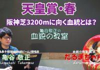 【天皇賞・春】 京都→阪神3200m替わりで狙うべき血統とは? /『亀谷敬正の血統の教室』