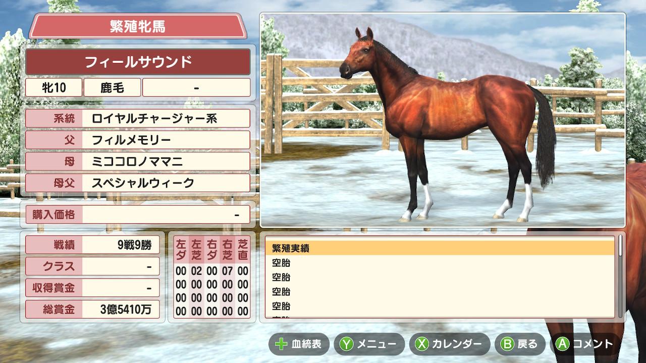 最初は牧場にいた繁殖牝馬から生産を始めました。
