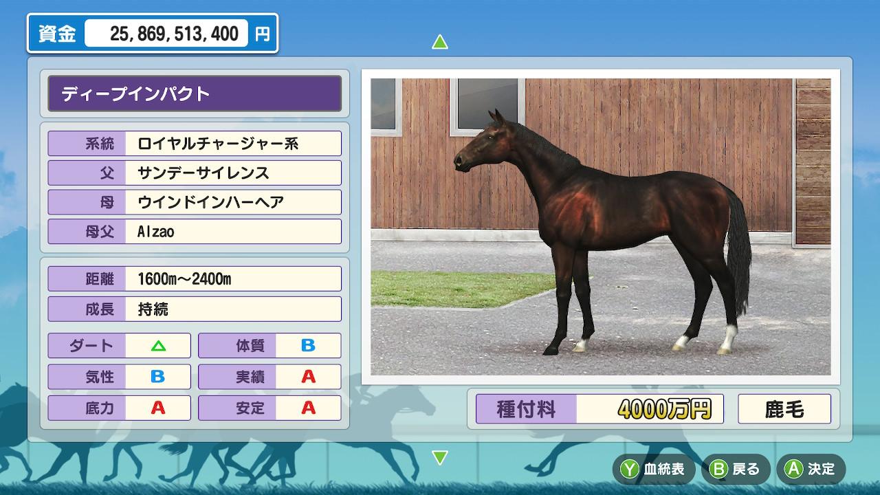 「ディープインパクト×ミココロノママニ」という最高額馬同士の配合です。