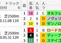 東京芝2500m(目黒記念)の好走馬データ一覧/スマート出馬表